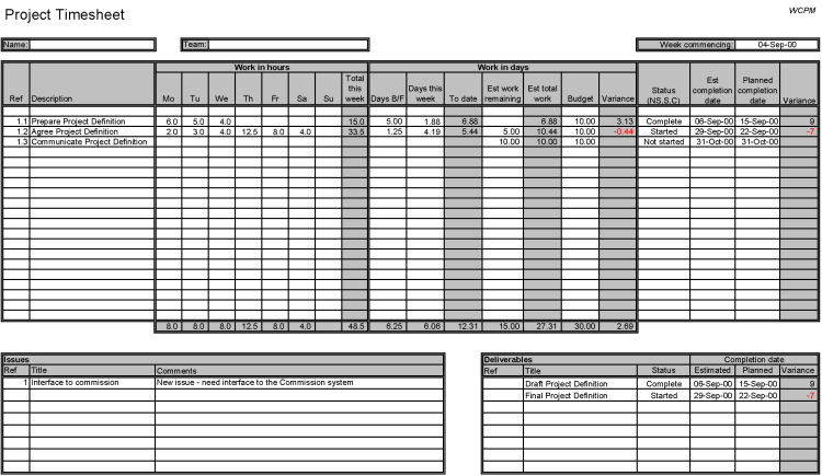 Example Timesheet - click for larger version